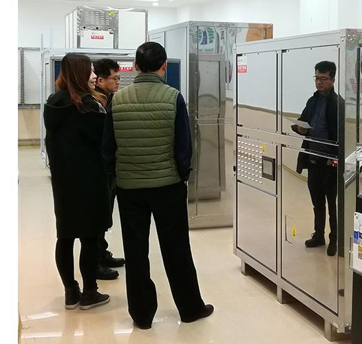 韩国客户参观我们的食品干燥机
